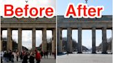 Before-and-after photos show Berlin's famous landmarks looking deserted in the coronavirus pandemic
