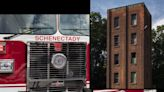 Schenectady FD training tower interior in need of cleanup from pigeons