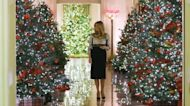 Melania Trump Decorates White House Christmas Trees With Kids' Crafts
