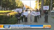 Protesters Descend On State Capitol In School Walkout Over Vaccine Mandate