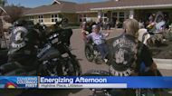 A Motorcycle Club Visited A Memory Club Facility To Energize Residents