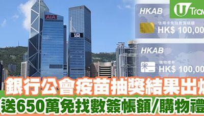 【打針抽獎】香港銀行公會疫苗抽獎結果出爐送650萬免找數簽帳額/購物禮券 | U Travel 旅遊資訊網站