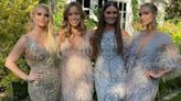 Ashlee and Jessica Simpson sparkle in glam gowns at friend's wedding