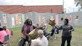 Art unveiling in downtown Texarkana promotes upcoming events in support of childhood cancer and breast cancer survivors