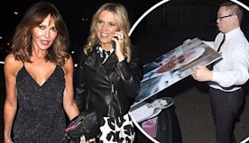 Lizzie Cundy joins Charlotte Hawkins at Eamonn Holmes' 60th birthday