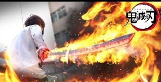 The strongest flame sword!! REAL LIFE Demon Slayer: Kimetsu no Yaiba | RATE