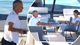 Tom Hanks relaxes on board his luxury yacht with wife Rita Wilson