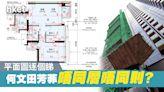 何文田芳菲平面圖分析 工作平台+露台同呎數但唔同形狀 - 香港經濟日報 - 地產站 - 新盤消息 - 新盤新聞