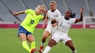 Sweden's women stun U.S. 3-0 in Tokyo opener