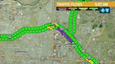 I-290 Eastbound closed due to a multi-vehicle accident