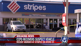Vehicle found in connection with murder at local convenience store
