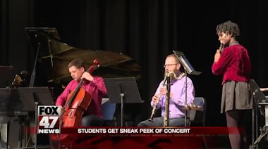Grammy-winning contemporary classical music group performs at local school
