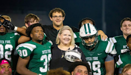 Fallen football player honored as Dutch Fork's homecoming king