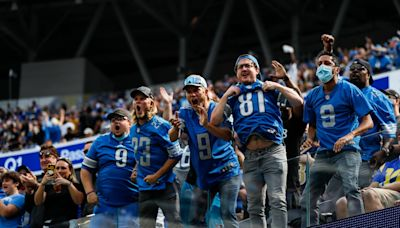Detroit fans well-represented in Los Angeles for Lions vs. Rams