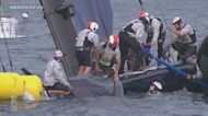 Racing yacht capsized