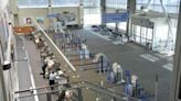 Airport numbers dropped as variant surged