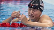 Katie Ledecky Get Emotional After Winning History Making Gold At Tokyo Olympics