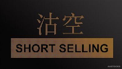 港股半日沽空81.8億元 佔可沽空股份成交15.8%