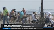 Nice Weather Allows People To Get Out For Last Weekend Of Summer Fun