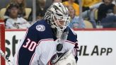 Berube, Greaves share shutout as Columbus tops Penguins 3-0