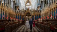 William and Kate take part in moment of reflection at Westminster Abbey