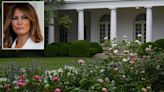 Melania Trump unveils her renovations to the White House Rose Garden