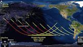 美中預測:長征五號上午墜地中海