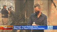 Gov. Newsom Tours Damage From Glass Fire In Napa And Sonoma Counties