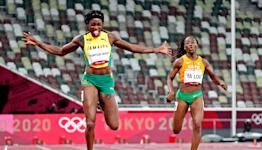 Jamaica's Elaine Thompson-Herah sweeps 100, 200 meters for historic double; American Gabby Thomas wins bronze