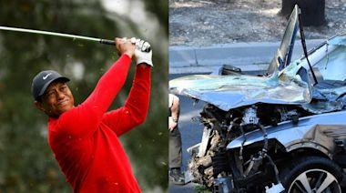 老虎伍茲車禍原因出爐 把油門當煞車踩!140公里過彎失控撞爛