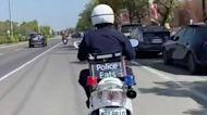 「警用外送車」吸睛 美食外送員笑:趕單時可以鳴笛