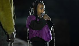 Every Adorable Photo of North West Performing at Dad Kanye West's Yeezy Show