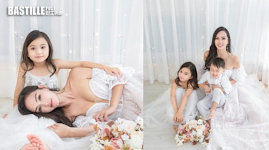 同仔女影親子寫真 Jessica C.低胸婚紗Look展現健康美   娛圈事