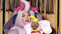 Katy Perry Channels Dumbo's Mom In Massive Elephant Costume For 'Disney Family Singalong'