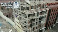 Drone Footage Shows Building Destroyed in Madrid Explosion