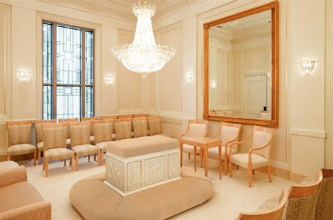 Inside the Temple - Sealing room in LDS Temple