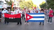 Hundreds supporting Cuba's government rally in Madrid
