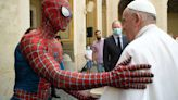 Pope Francis meets Spider-Man at weekly audience
