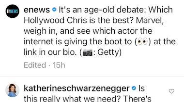 Katherine Schwarzenegger, Robert Downey Jr. and Mark Ruffalo Defend Chris Pratt After Actor Is Dubbed 'Worst Hollywood Chris'