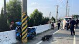 中年男騎士疑自撞電線桿 掉落大排死亡