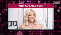 Tori Spelling Attends Space Jam: A New Legacy Screening with Her Kids: 'Such a Fun Movie'