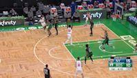 RJ Barrett with an assist vs the Boston Celtics