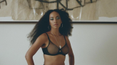 Solange Knowles looks like a 'queen' in black lingerie