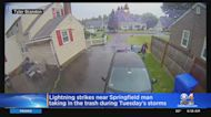 Close Call: Lightning Strikes Nearby While Springfield Man Brings In Trash Barrel