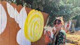 New flower mural on East Main Street