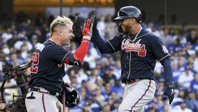 Braves put Dodgers in familiar 3-1 hole as Eddie Rosario leads NLCS Game 4 blowout