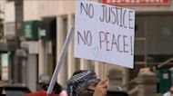 Local demonstrators rally to bring attention to situation on Gaza Strip