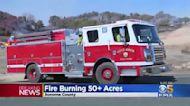 Cal Fire Crews Battling Wildfire Near Napa-Sonoma County Line