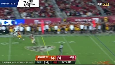 Highlights: Oregon State football wins for the first time at USC since 1960 in 45-27 victory