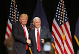 Mike Pence tries to woo wary Republicans in Wisconsin